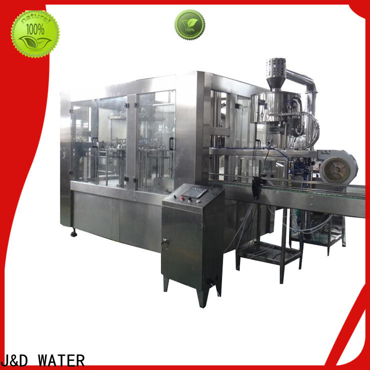 J&D WATER advanced technology volumetric filling machine factory for PET
