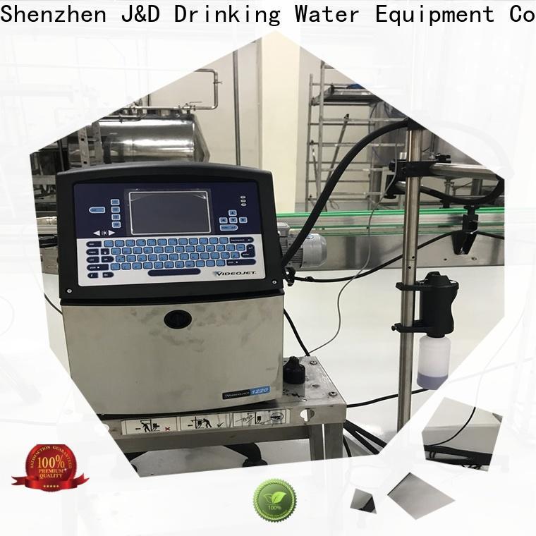 J&D WATER standard inkjet date coder machine high-definition screen for cardboard
