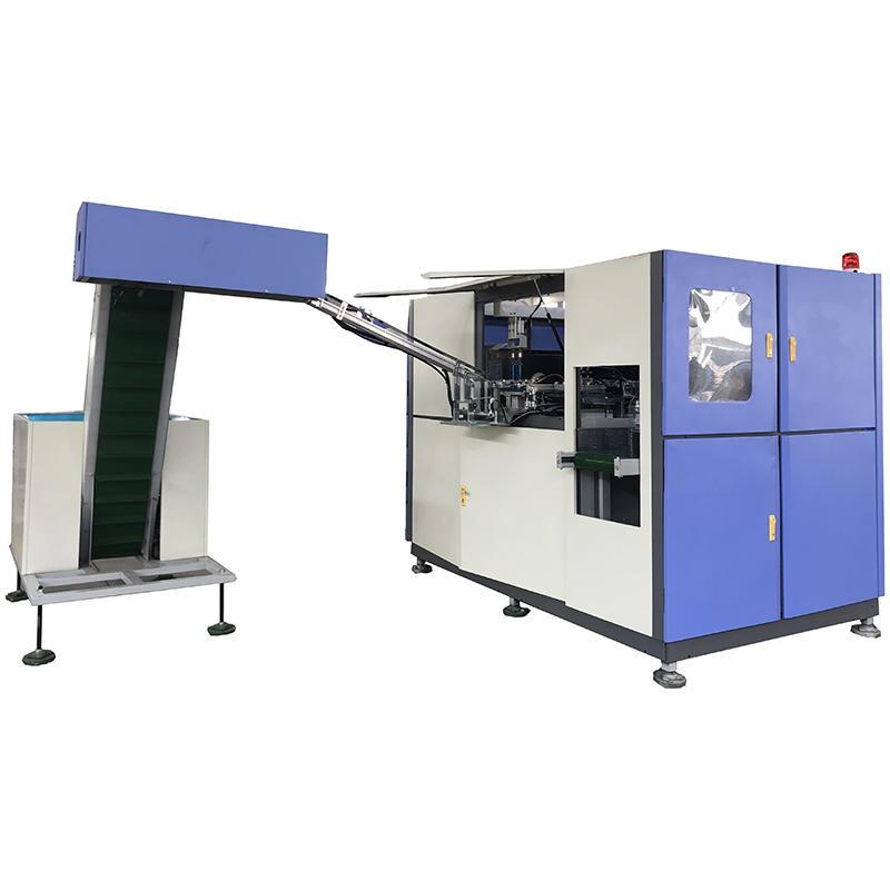 Máquina automática de soplado de botellas de plástico PET de 0.1-2L instalada y probada en la fábrica