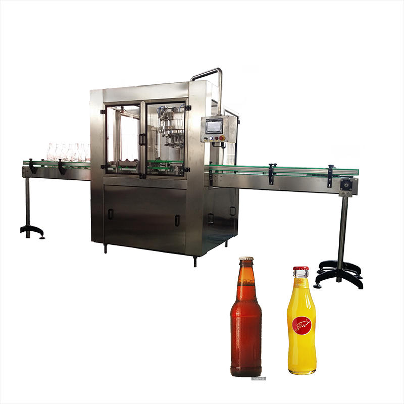 Automatic Galss Bottle Beer Beverage Bottled Water Filling Capping Machine
