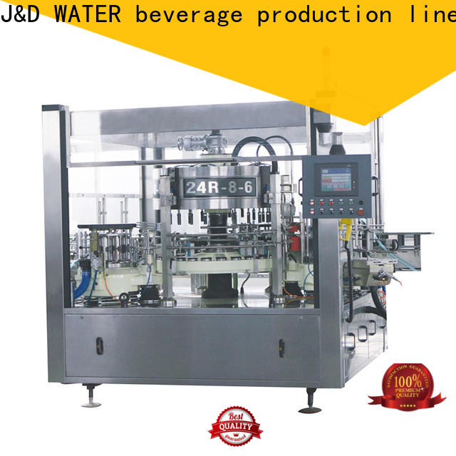 J&D WATER bottle labeling machine adjustable for metal container