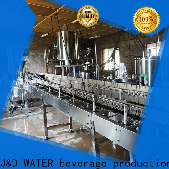 J&D WATER advanced technology bottle capping machine stainless steel for mineral water