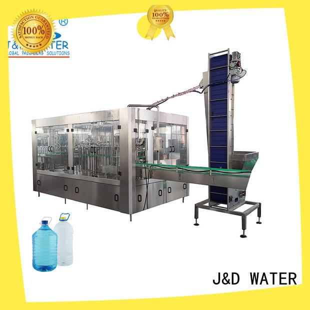J&D WATER bottle filling equipment complete function for milk