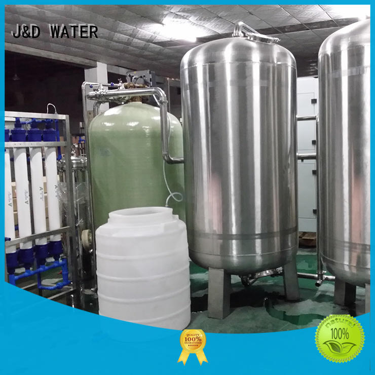 J&D WATER reverse osmosis equipment With Steel for water treatment