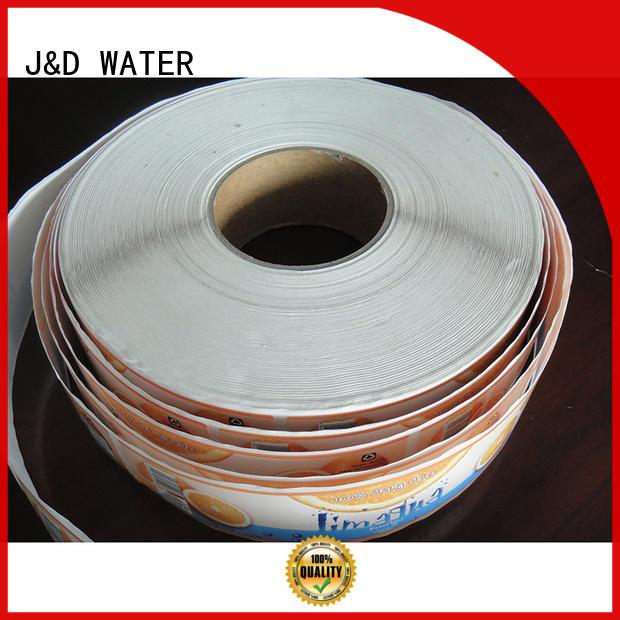 sticker label J&D WATER