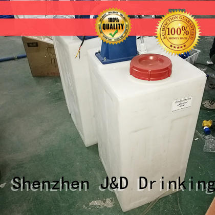 J&D WATER Customized reverse osmosis machine with Glass Tank for pure water