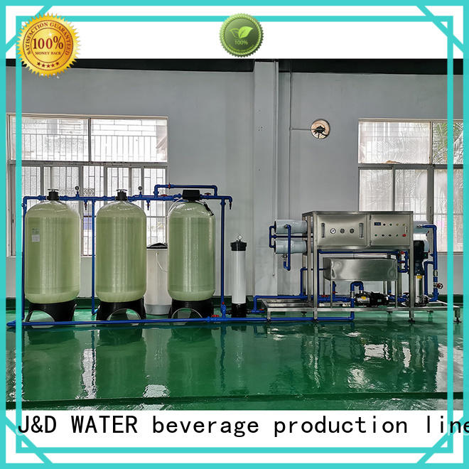 J&D WATER Auto-check reverse osmosis equipment manual wash for drinking water for treatment