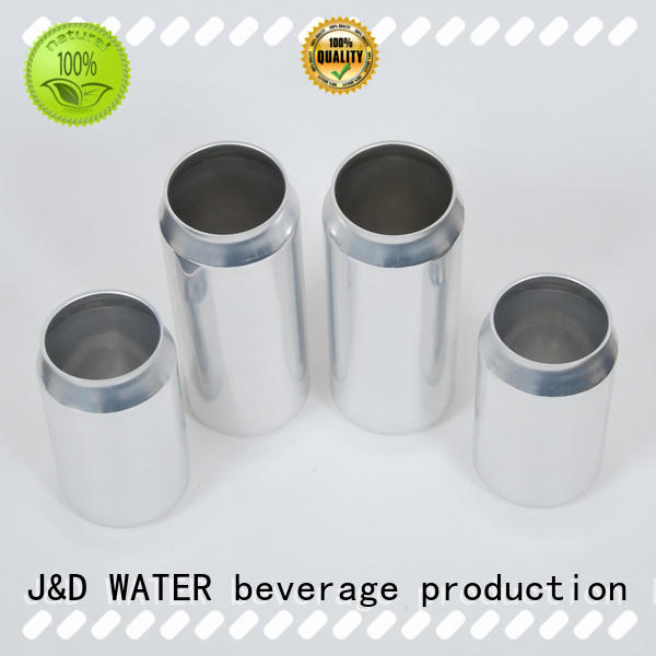 J&D WATER aluminum can free sample for water packing