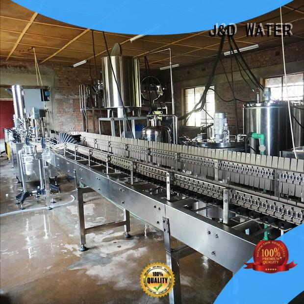 J&D WATER intelligent water bottling equipment complete function for vinegar