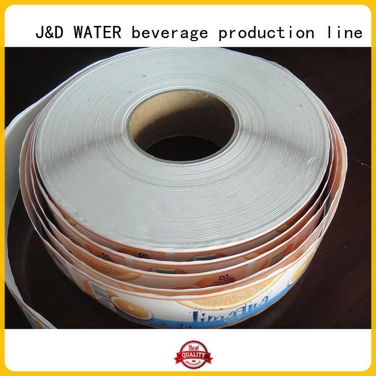 J&D WATER sticker label