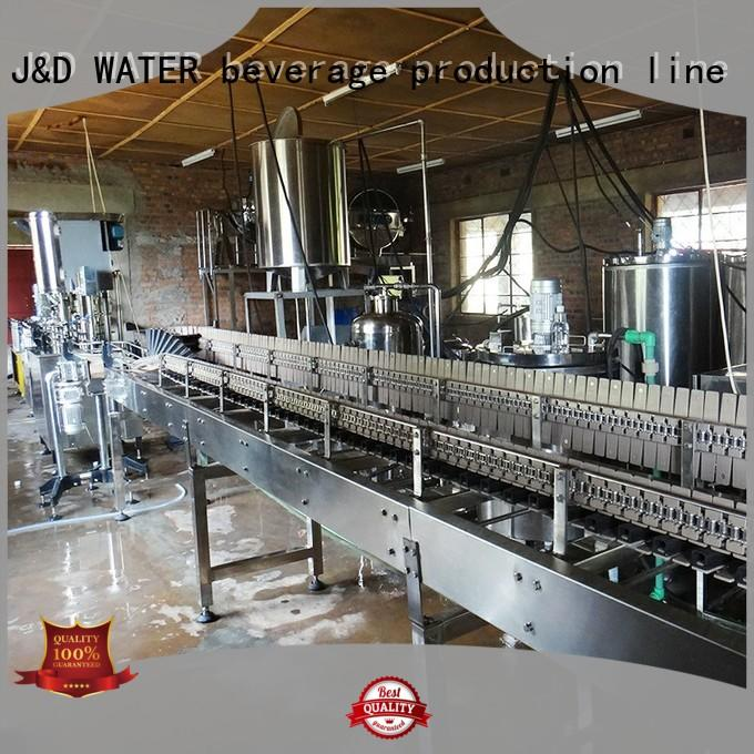 J&D WATER easy operation mineral water filling machine high automation for tea