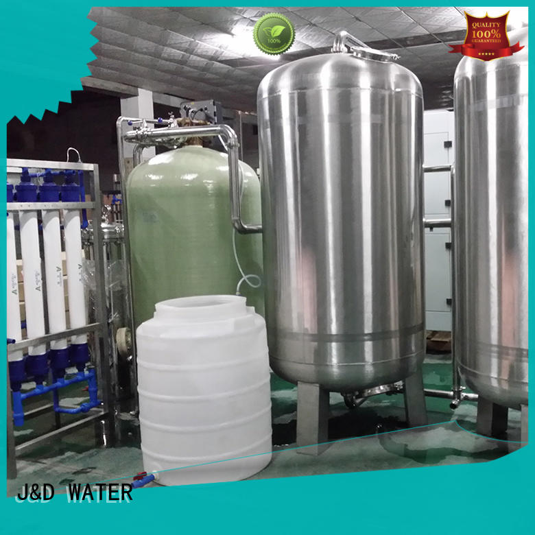 J&D WATER reverse osmosis equipment with Glass Tank for pure water