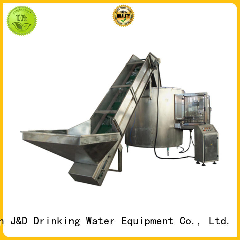 J&D WATER advanced technology plastic bottle sealing machine complete function for Glass bottles