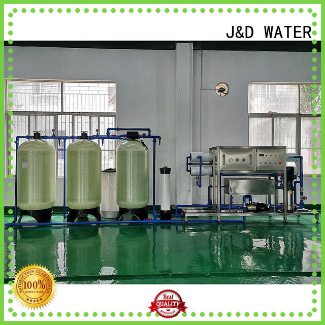 J&D WATER standrad reverse osmosis water treatment machine With Steel for water treatment