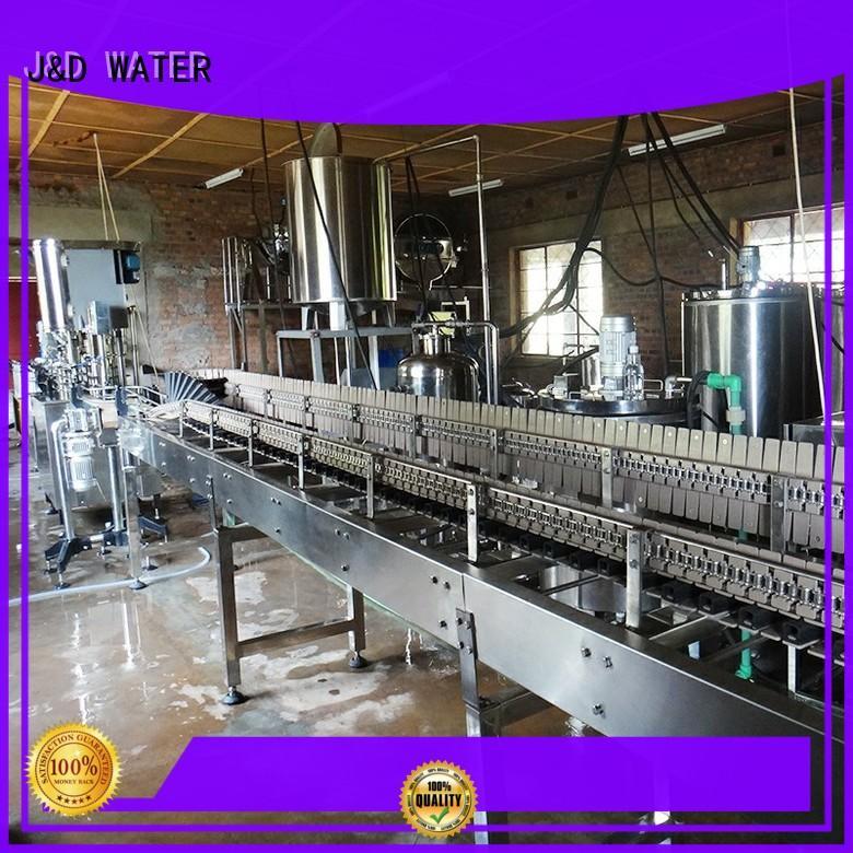 J&D WATER advanced technology liquid packaging machine convenient for PET