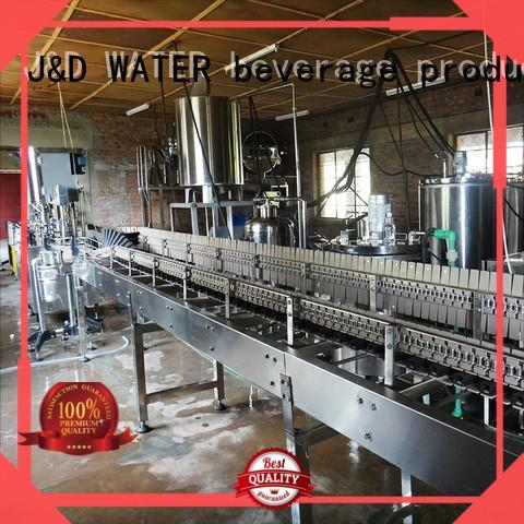 J&D WATER advanced technology bottle washing filling capping machine complete function for pure water