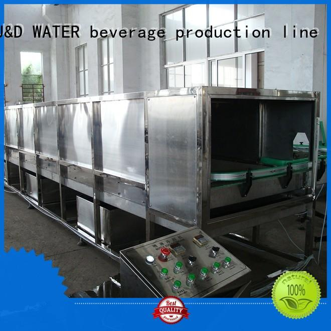 J&D WATER adjusted bottle washing filling capping machine factory for sauce