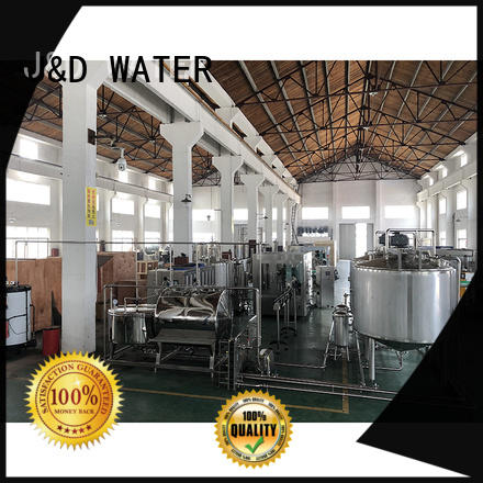 J&D WATER easy operation mineral water machine high accuracy for mineral water