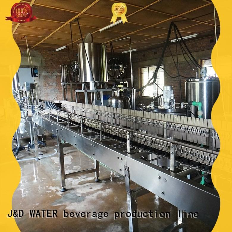 J&D WATER water bottling equipment complete function for sauce
